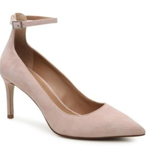 Tahari Pinto Pink Suede Pointed Toe Pumps  NEW WOB